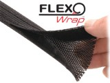 "Techflex 2"" Flexo Wrap Fletstrømpe Sort 6 Ft"